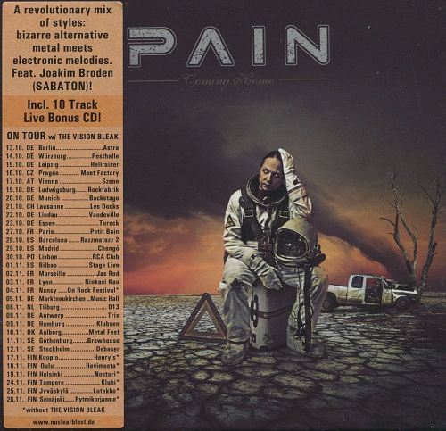 Pain - Coming Home (2CD Limited Edition) (2016) 320 kbps + Scans