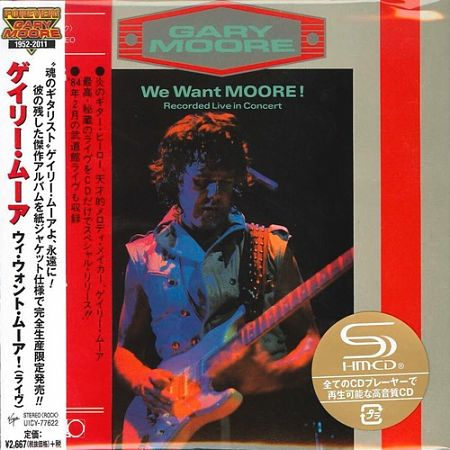 Gary Moore - We Want Moore! [Japan SHM-CD Remastered, Reissue] (2016) 320 kbps