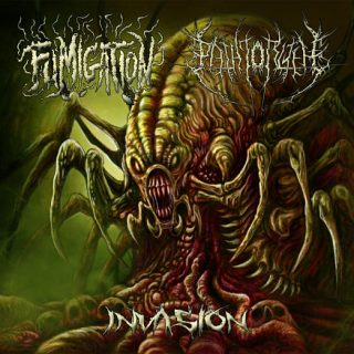 Fumigation - The Path To R'lyeh - Invasion (Split) (2017)