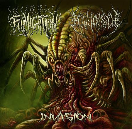 Fumigation - The Path To R'lyeh - Invasion (Split) (2017)